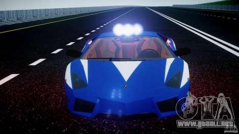 Lamborghini Reventon Polizia Italiana para GTA 4 ruedas