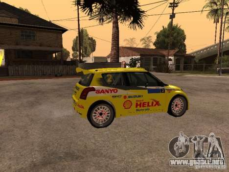 Suzuki Swift Rally para GTA San Andreas left
