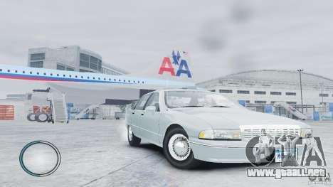 Chevrolet Caprice 1993 para GTA 4 visión correcta