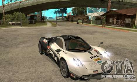 Pagani Huayra ver. 1.1 para visión interna GTA San Andreas