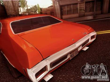 Chevy Chevelle SS 1970 para GTA San Andreas vista hacia atrás