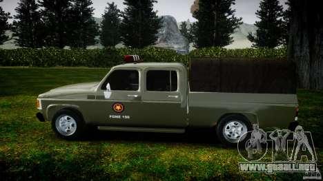 Chevrolet D20 Brigada Militar RS para GTA 4 vista interior