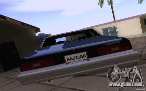 Chevrolet Caprice Clasico para la visión correcta GTA San Andreas