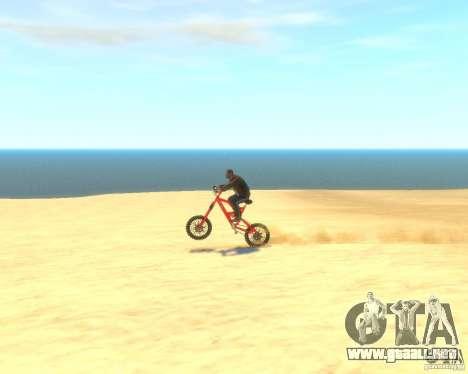 Mountain bike para GTA 4 vista hacia atrás