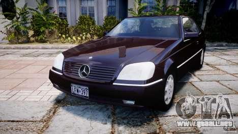 Mercedes-Benz 600SEC C140 1992 v1.0 para GTA 4