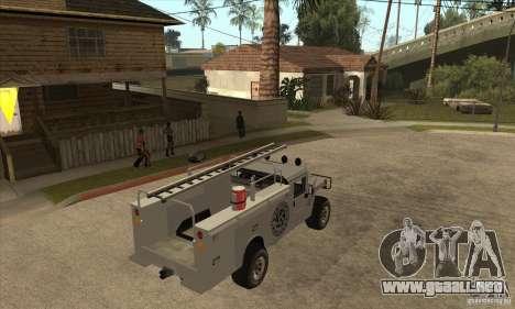 Hummer H1 Utility Truck para la visión correcta GTA San Andreas