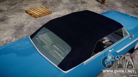 Dodge Dart 440 1962 para GTA 4 vista desde abajo
