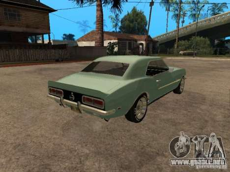 Chevrolet Camaro RS SS 396 para GTA San Andreas left