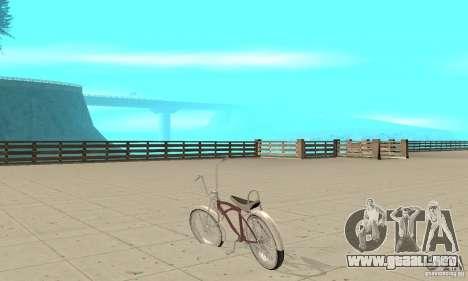 Lowrider Bicycle para GTA San Andreas vista posterior izquierda