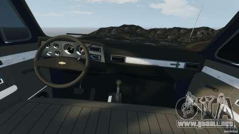 Chevrolet Silverado 1986 para GTA 4 vista hacia atrás
