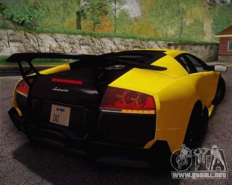 Lamborghini Murcielago LP 670/4 SV Fixed Version para GTA San Andreas left