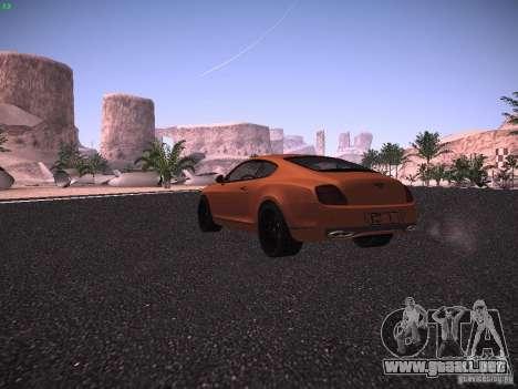 Bentley Continetal SS Dubai Gold Edition para la visión correcta GTA San Andreas