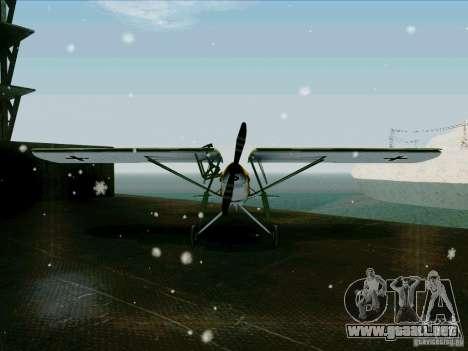 Fi-156 para GTA San Andreas vista hacia atrás