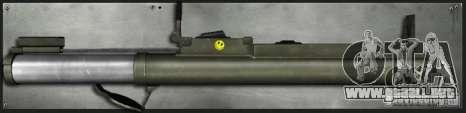 M72 LAW-Bazooka para GTA San Andreas segunda pantalla