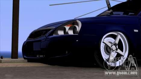 VAZ 2170 Lada Priora para GTA San Andreas vista hacia atrás