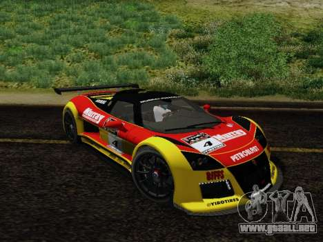 Gumpert Apollo S 2012 para vista inferior GTA San Andreas