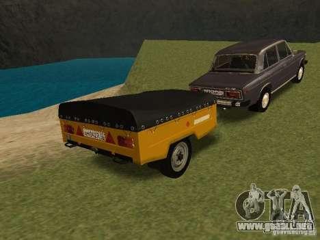MAZ 8114 becerro para GTA San Andreas vista posterior izquierda