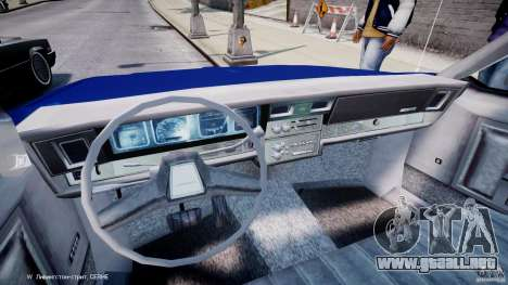 Chevrolet Impala Police 1983 para GTA 4 vista hacia atrás