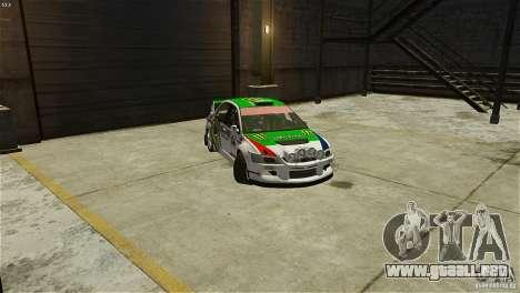 Mitsubishi Lancer Evolution IX RallyCross para GTA 4 visión correcta