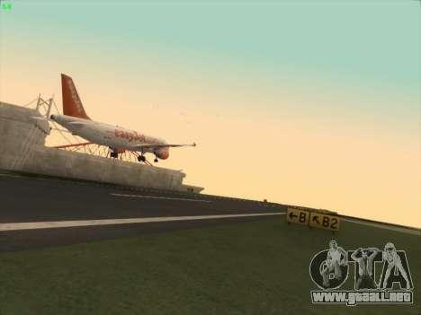 Airbus A320-214 EasyJet para GTA San Andreas vista hacia atrás