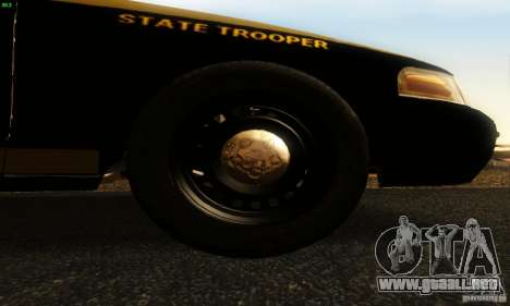 Ford Crown Victoria Maryland Police para la visión correcta GTA San Andreas
