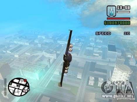 Jetwing Mod para GTA San Andreas segunda pantalla