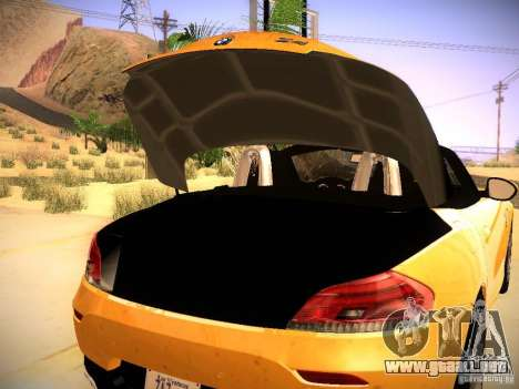 BMW Z4 sDrive28i 2012 para vista lateral GTA San Andreas