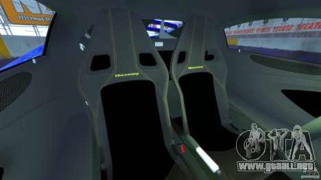 Hennessey Venom GT 2010 [EPM] para GTA 4 vista interior
