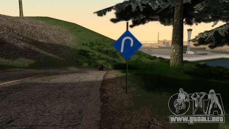 Nuevas señales de tráfico para GTA San Andreas segunda pantalla