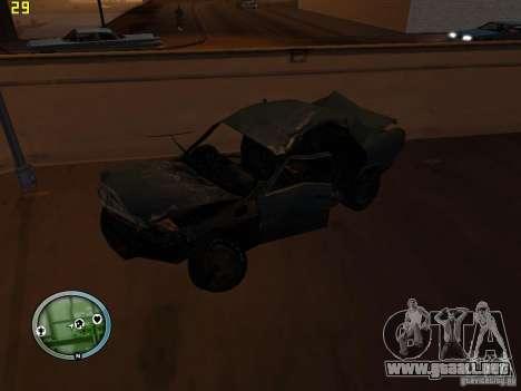 Autos rotas en la calle Grove para GTA San Andreas séptima pantalla