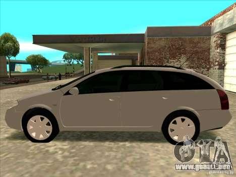 Nissan Primera Wagon para GTA San Andreas vista posterior izquierda