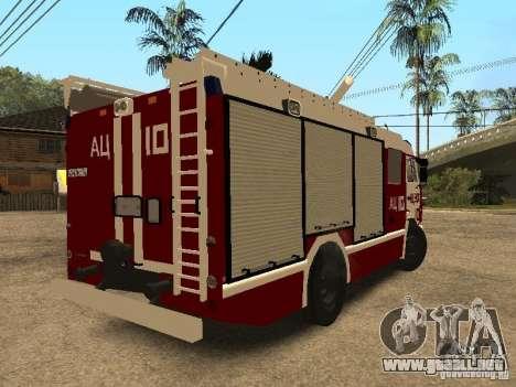 KAMAZ 43253 Rozenbauer para GTA San Andreas vista posterior izquierda