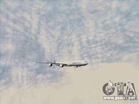 Airbus A-340-600 para vista lateral GTA San Andreas