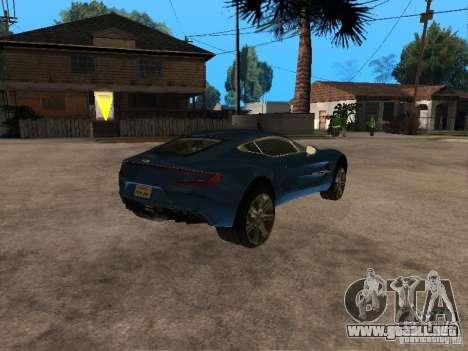 Aston Martin One77 para la visión correcta GTA San Andreas