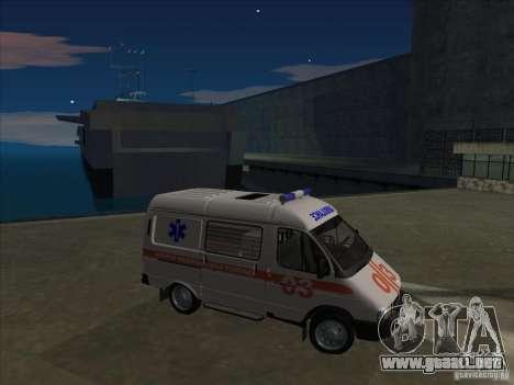 Ambulancia 22172 del GAS para vista lateral GTA San Andreas