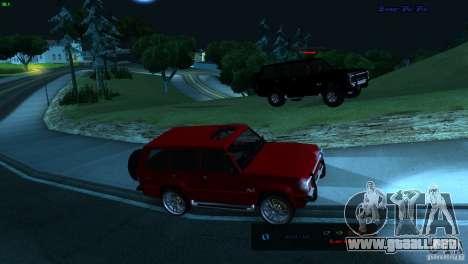 FBI Huntley 4x4 para GTA San Andreas vista posterior izquierda