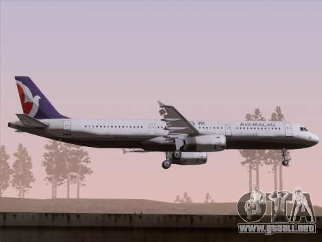 Airbus A321 Air Macau para GTA San Andreas vista hacia atrás