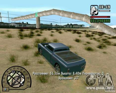 Salta sobre la autopista, en Las Venturase para GTA San Andreas sexta pantalla