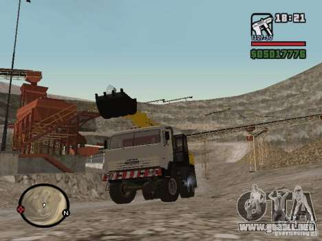 Kamaz UDS para GTA San Andreas vista posterior izquierda