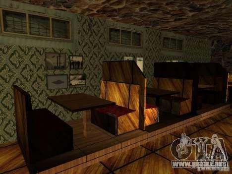 Nueva barra de texturas UFO para GTA San Andreas quinta pantalla