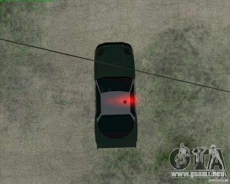 Supergt - Police S para GTA San Andreas vista hacia atrás