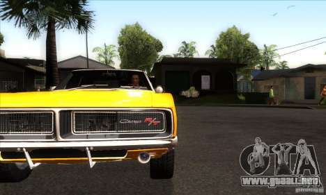Dodge Charger RT 1969 para visión interna GTA San Andreas
