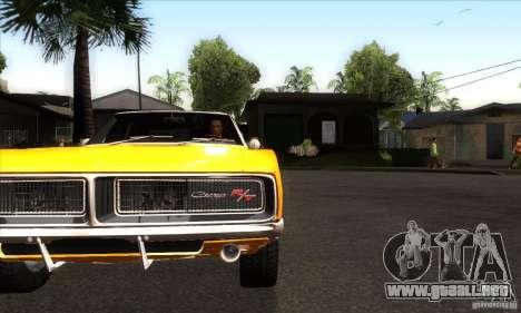 Dodge Charger RT 1969 para visión interna GTA San Andreas