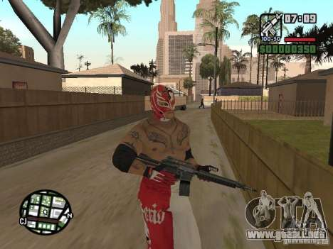 Rey Mysterio para GTA San Andreas quinta pantalla
