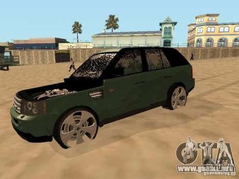 Land Rover Range Rover Sport para visión interna GTA San Andreas