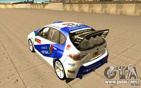 Subaru Impreza WRX STi con el único nuevo vinilo para las ruedas de GTA San Andreas