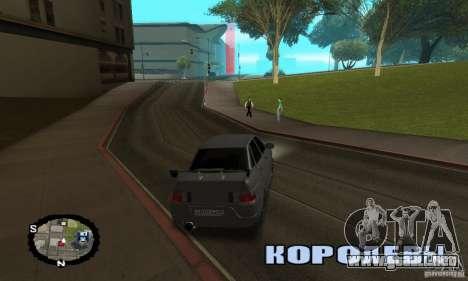 Carreras callejeras para GTA San Andreas sucesivamente de pantalla