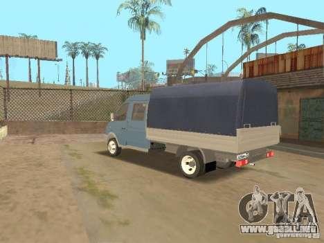 Granjero de gaz gacela 33023 para GTA San Andreas vista posterior izquierda