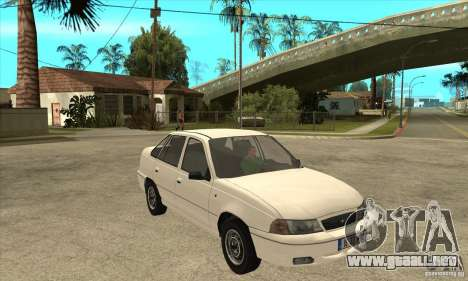 Daewoo Nexia para GTA San Andreas vista hacia atrás