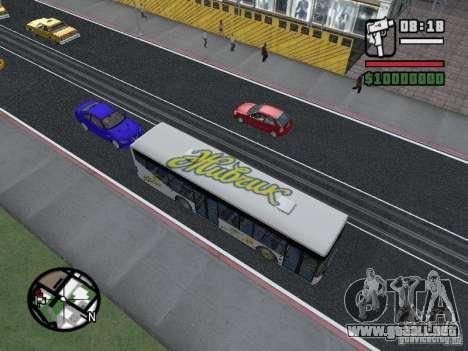 LAZ InterLAZ 12 para GTA San Andreas vista posterior izquierda